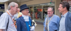 Rhys Jones Town Crier Mayor Cllr Shaun Best Nigel Huddleston MP