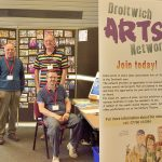From Sat 30th June. Most days,  Artists in Residence in the foyer at Droitwich Library